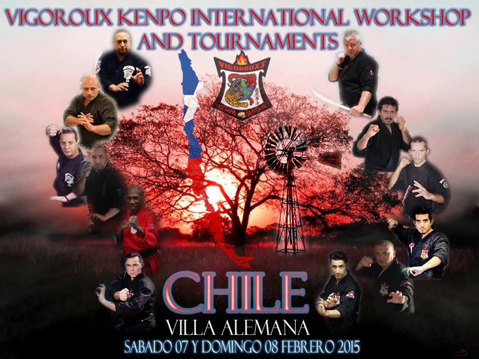 Datu Hartman will teach at the Vigoroux's Kenpo Karate International Workshop @ Polideportivo Nicolas Massu | Villa Alemana | Valparaiso | Chile