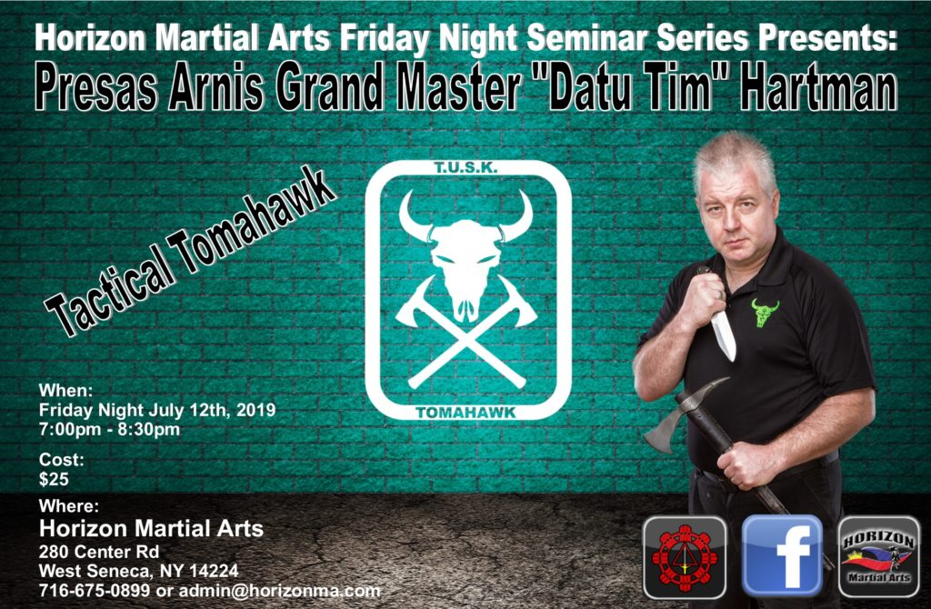 Tomahawk Seminar w/ Datu Hartman @ Horizon Martial Arts