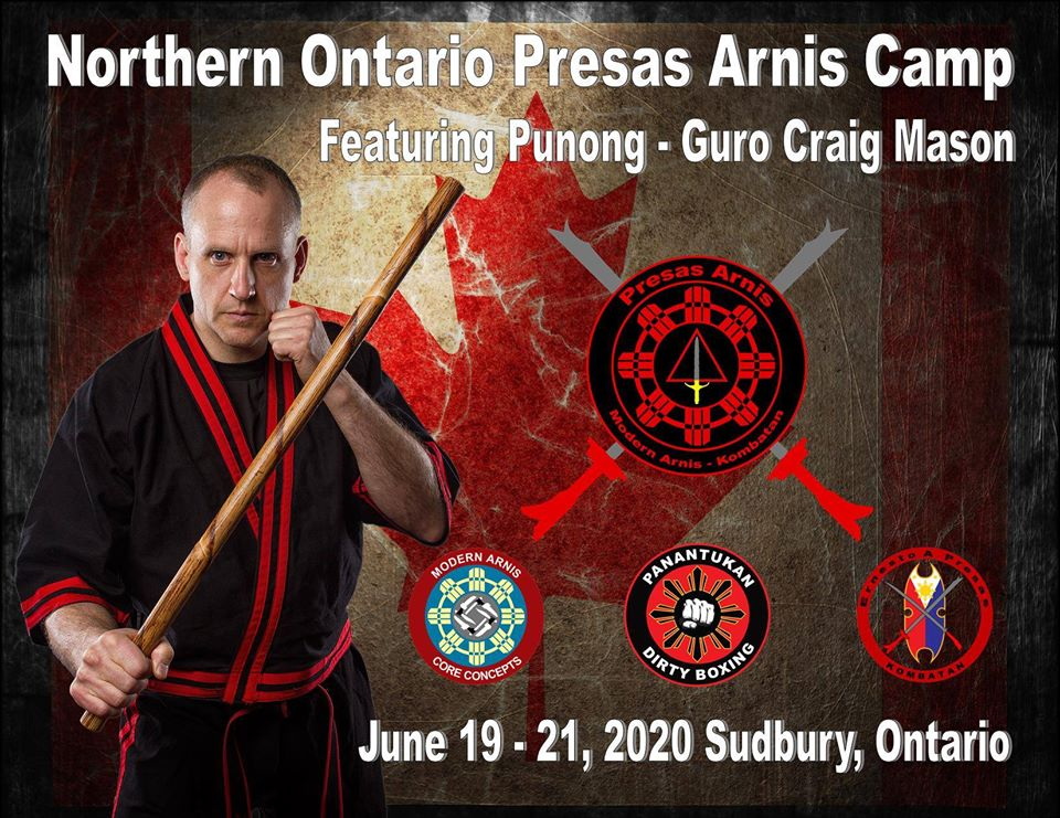 Northern Ontario Presas Arnis Camp Featuring Punong - Guro Craig Mason @ Sudbury School of Martial Arts