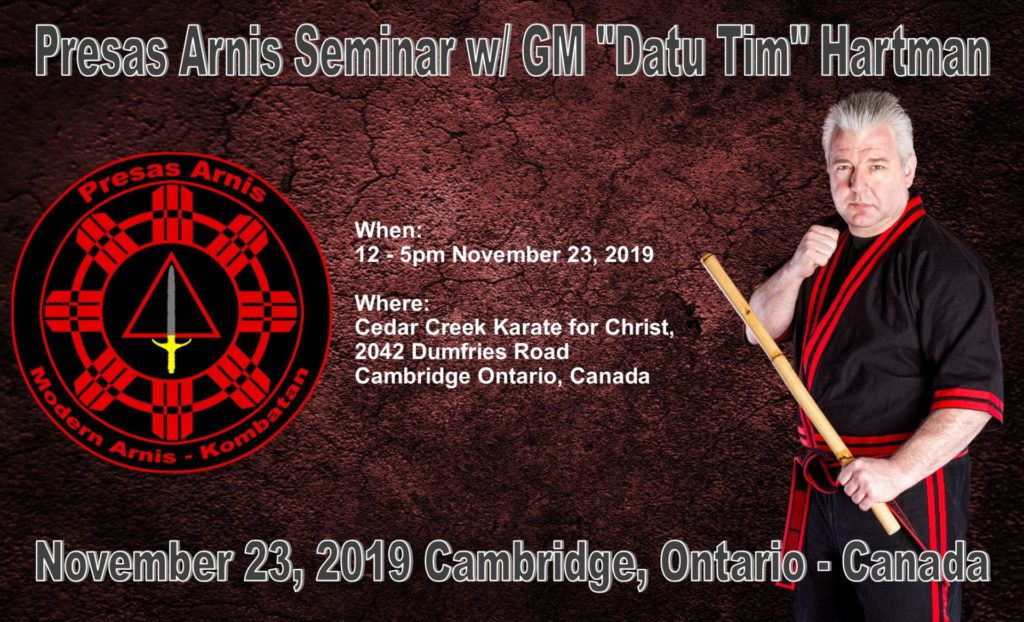 Presas Arnis seminar w/ Datu Tim Hartman @ Cedar Creek Community Church