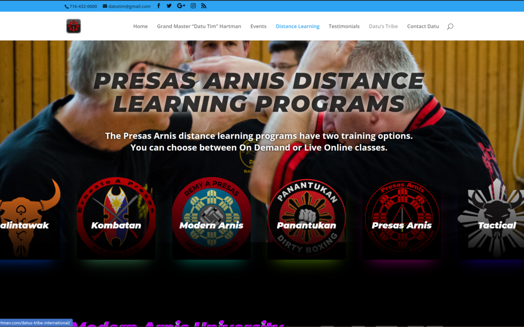 Presas Arnis Distance Learning Portal Up and Running